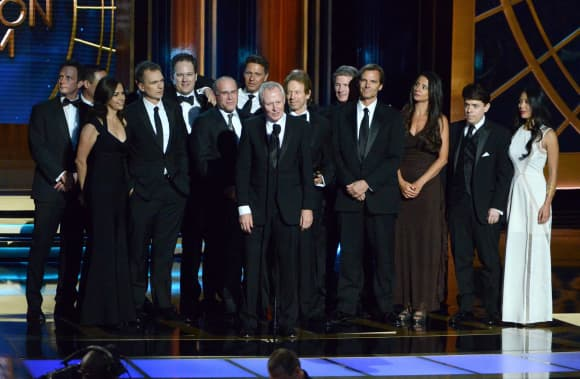 Producers of The Amazing Race at the Emmy Awards Ceremony