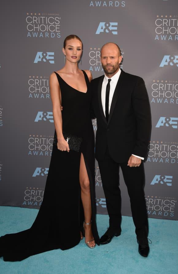 Rosie Huntington-Whiteley und Jason Statham bei den Critics' Choice Awards 201