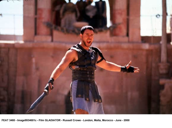 Russell Crowe in Gladiator famous quote