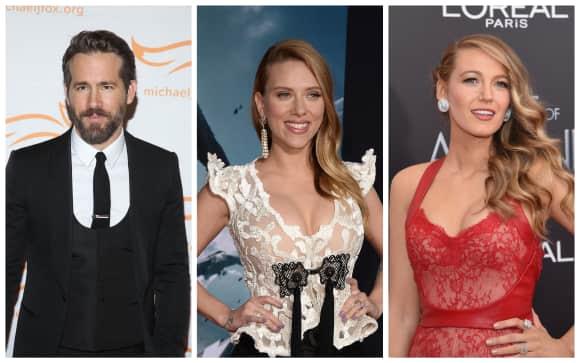 Schauspieler Ryan Reynolds mit Ex Scarlett Johansson und Frau Blake Lively