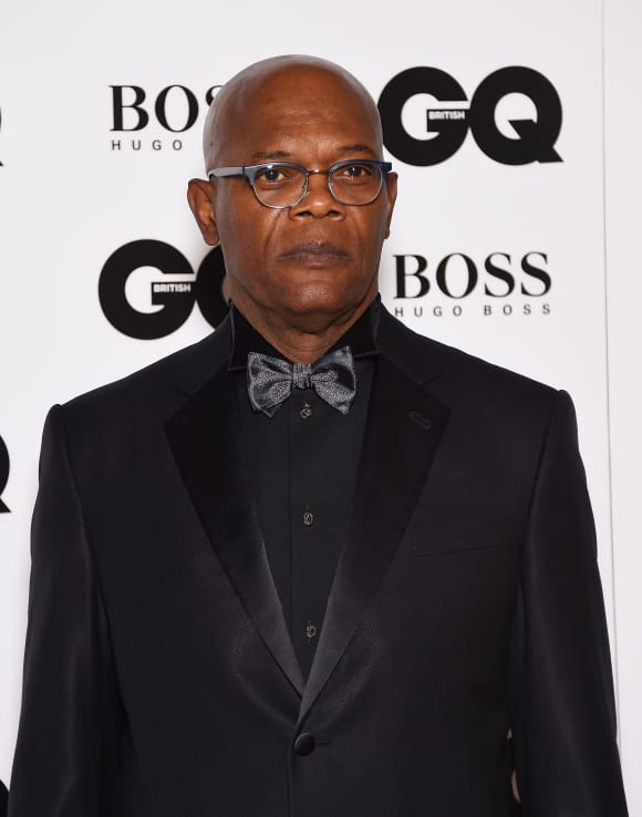 Samuel L Jackson at the GQ Man of the Year Award in 2015