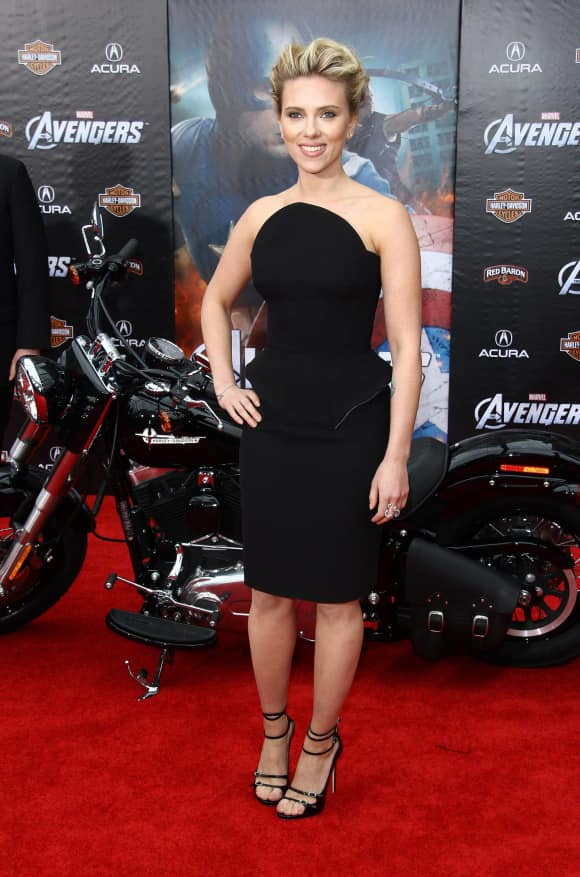 "Scarlett Johansson alias ""Black Widow"" in Marvel's ""The Avengers"""