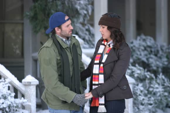 "Scott Patterson and Lauren Graham in ""Gilmore Girls"""
