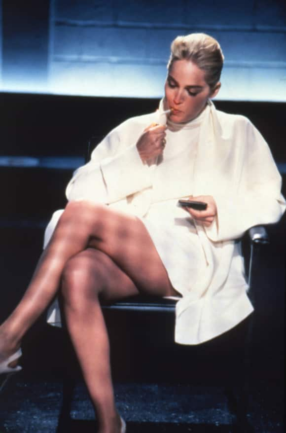 """Sharon Stone plays the role of """"Catherine Tramell"""" in """"Basic Instinct"""""""