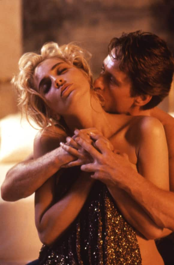 "Sharon Stone and Michael Douglas in ""Basic Instinct"""