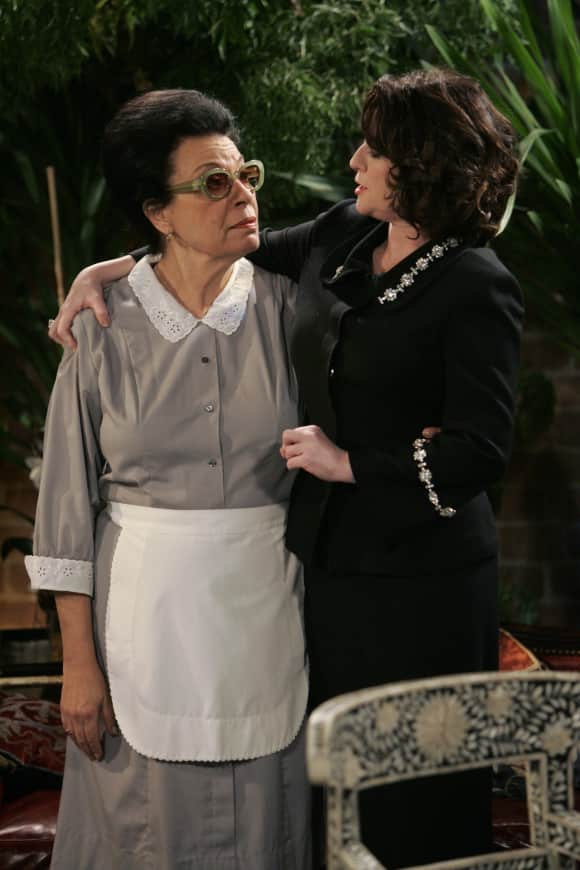 "Shelley Morrison played ""Rosario Salazar"" in ""Will & Grace"""