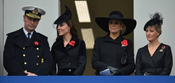 Sir Tim Laurence,  Kate Middleton, Königin Maxima und Sophie Countess of Wessex
