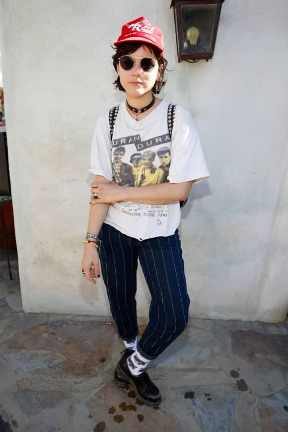 Sängerin SoKo auf dem Coachella