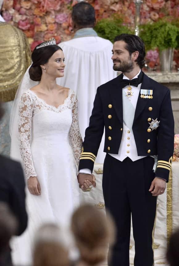 Sofa Hellqvist und Carl Philip von Schweden bei der Hochzeit