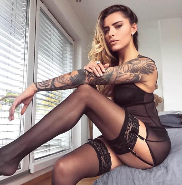 Sophia Thomalla: Sexy in Strapse