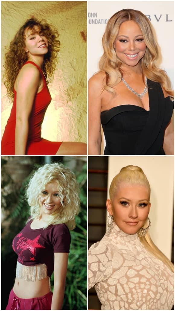 Stars vor und nach der Brust-Vergrößerung