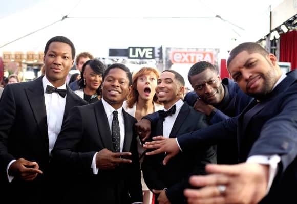 "Susan Sarandon crasht das Foto der ""Straight Outta Compton""-Stars"