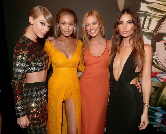 Taylor Swift, Gigi Hadid, Karlie Kloss und Lily Aldridge