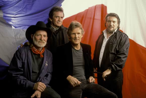 The Highwaymen: Johnny Cash, Willie Nelson, Waylon Jennings and Kris Kristoferson