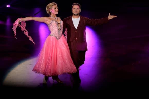 """Thomas Drechsel bei """"Let's Dance"""". Seine Tanzpartnerin ist Regina Murtasina."""