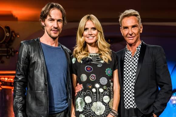 Thomas Hayo, Heidi Klum und Wolfgang Joop GNTM-Jury