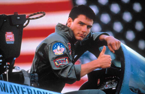 "Tom Cruise in ""Top Gun"" 1986"