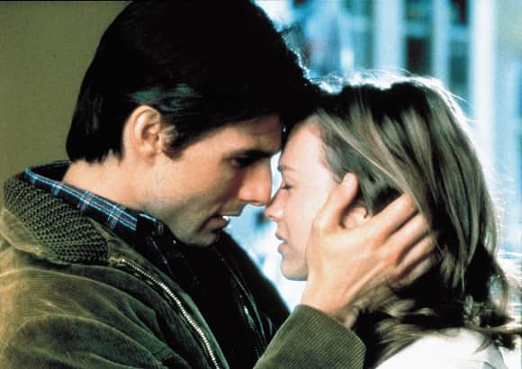 Tom Cruise and Renee Zellweger in Jerry Maguire famous quote you complete me