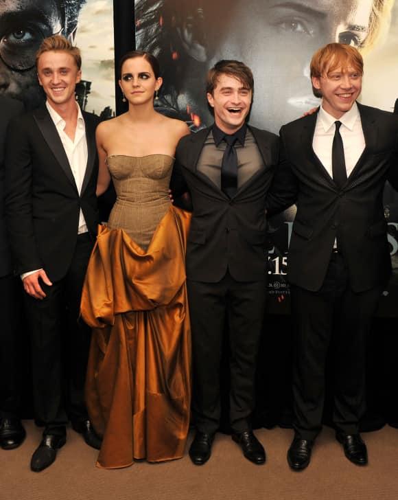 Tom Felton, Emma Watson, Daniel Radcliffe und Rupert Grint