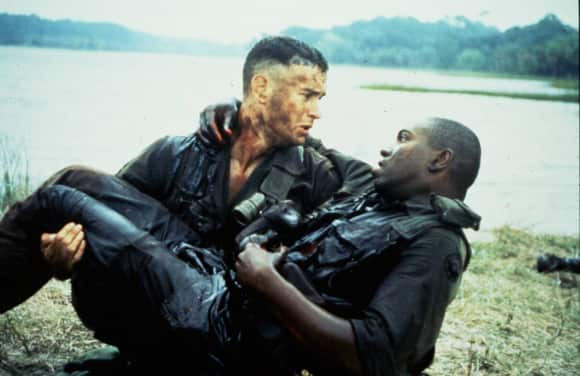 "Tom Hanks and Mykelti Williamson in ""Forrest Gump"""