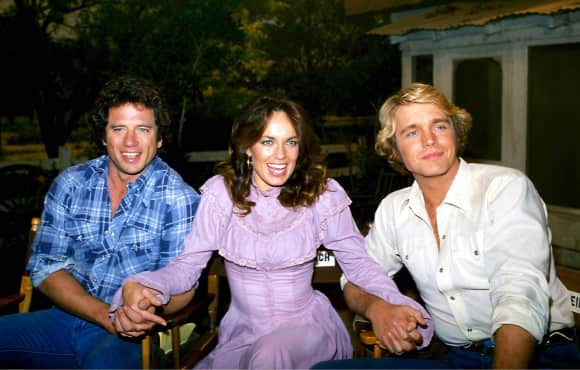 """The Dukes of Hazzard"" stars Catherine Bach, Tom Wopat and John Schneider"