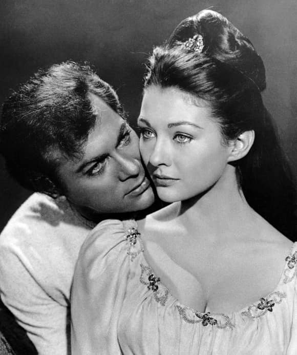Tony Curtis and Christine Kaufmann were married for five years