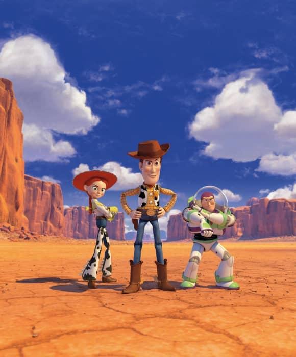 """Woody"", ""Buzz Lightyear"" and ""Jessie"" from Toy Story 2"
