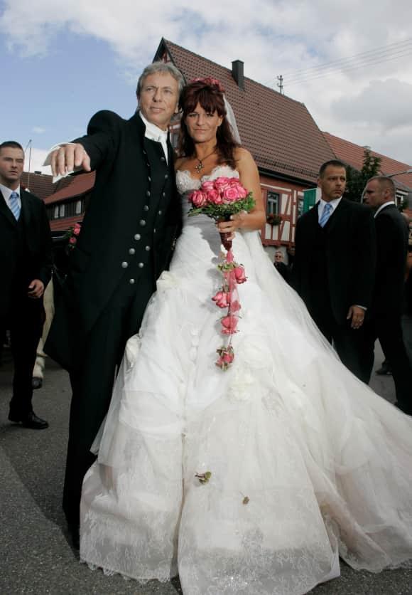 Uli Ferber und Andrea Berg an ihrer Hochzeit 2007