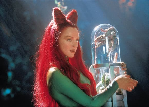 """Uma Thurman playing the role of """"Poison Ivy"""" in """"Batman & Robin"""""""