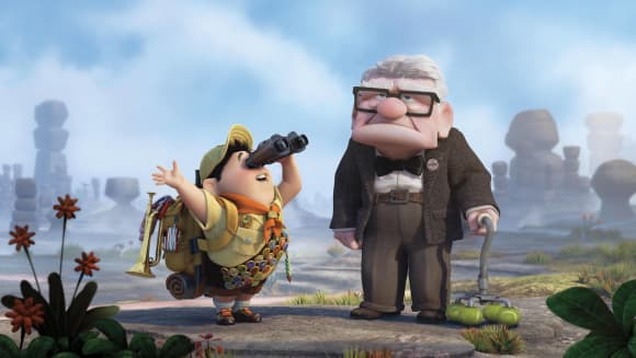 """""""Carl Fredriksson"""" and """"Russel"""" in Up"""