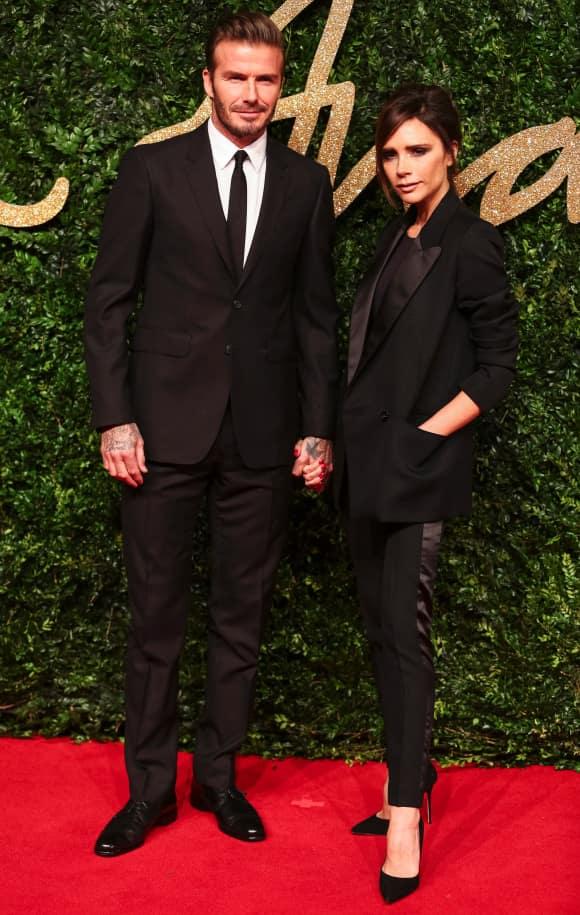 Victoria and David Beckham in 2015