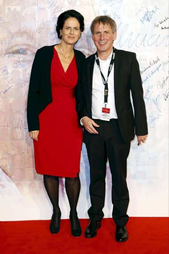 ZDF-Hitparade-Moderator Viktor Worms mit seiner Frau heute