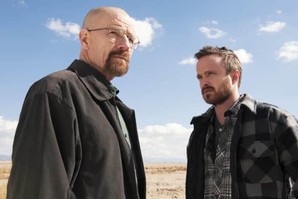 "Bryan Craston und Aaron Paul in der Kultserie ""Breaking Bad"", Walter White, Jesse Pinkman"