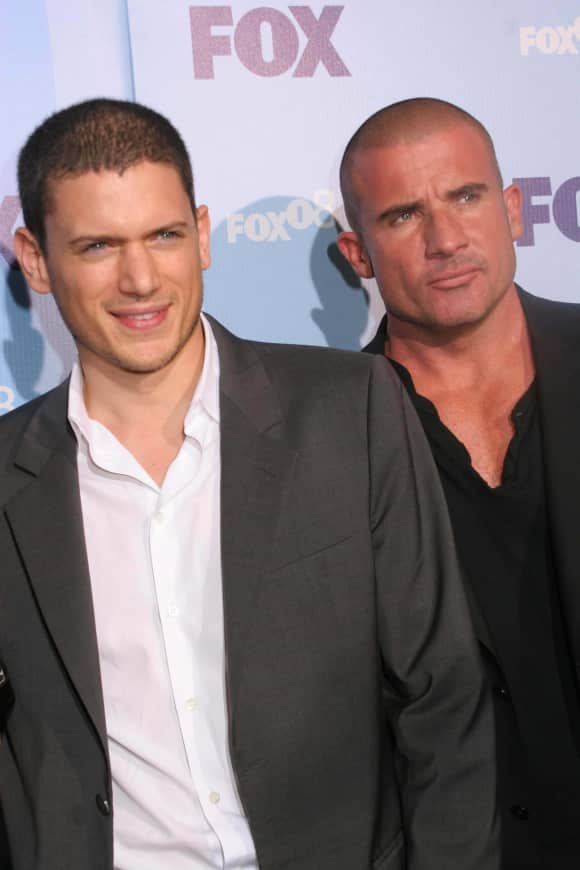 The Prison Break cast members Wentworth Miller and Dominic Purcell.