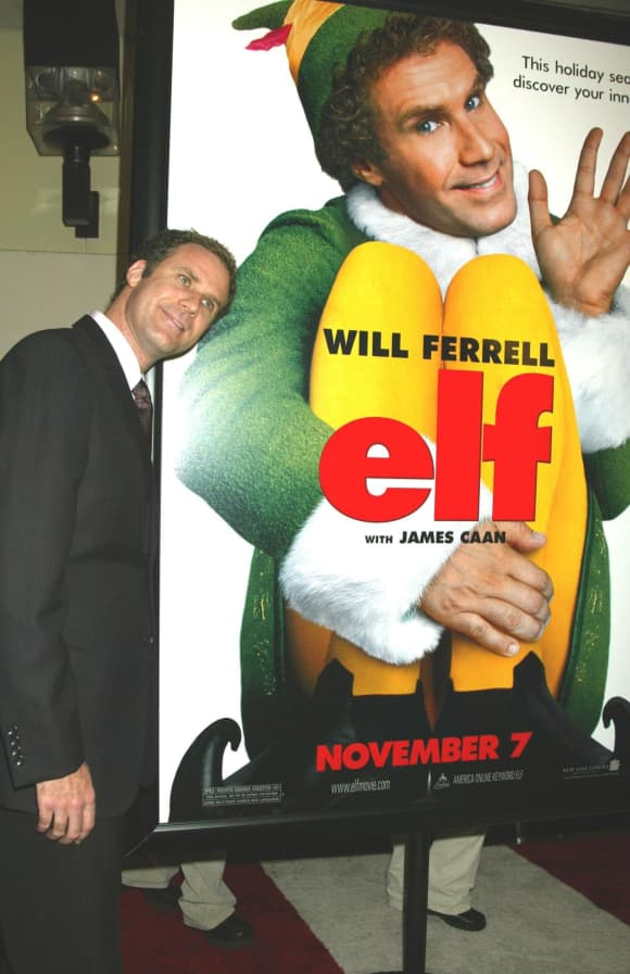"Will Ferrell at the ""Elf"" premiere"