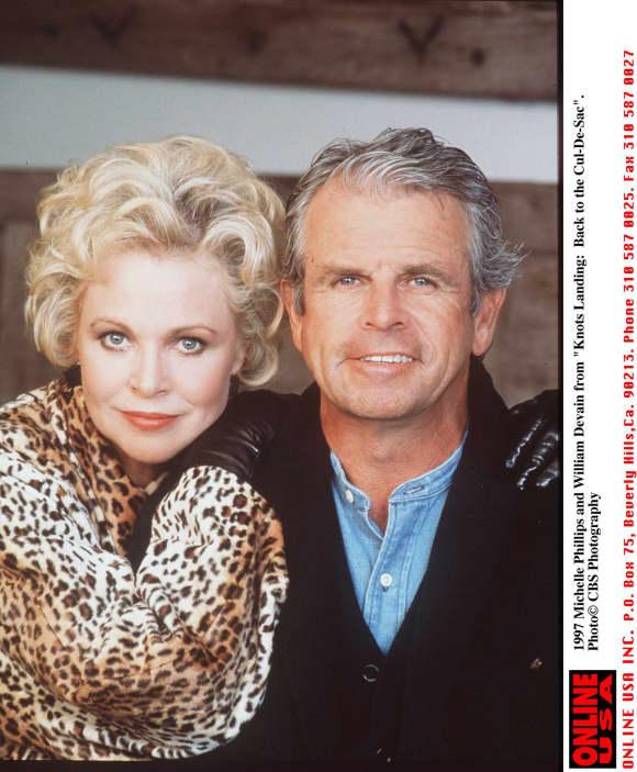 William Devane and Michelle Phillips in 1997