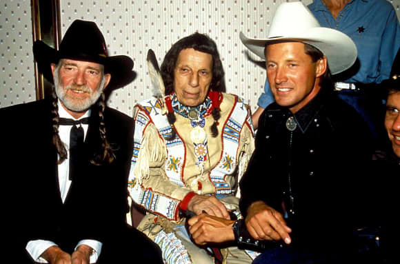 Willie Nelson, Iron Eyes Cody and Bruce