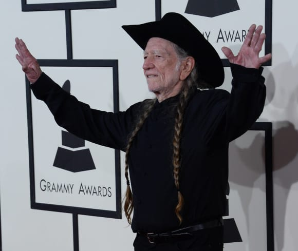 Willie Nelson at The Grammy's in 2014