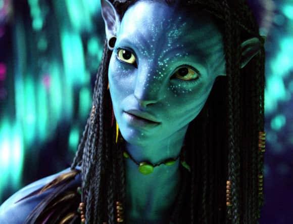 """Zoe Saldana as """"Neytiri"""" in """"Avatar"""""""