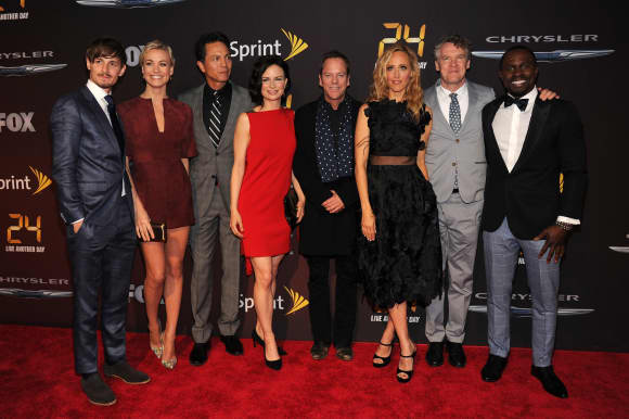 "The Cast Of ""24"" at the premiere"
