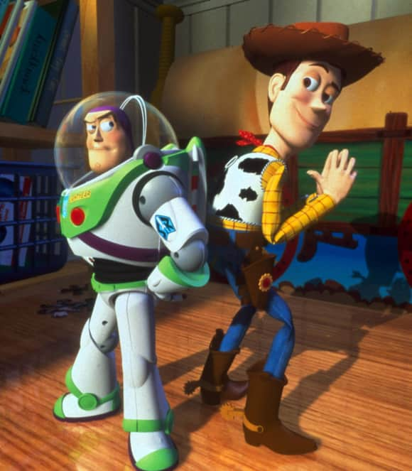 """Buzz Lightyear"" and ""Woody"" in ""Toy Story"""