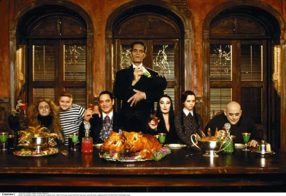 """""""The Addams Family"""" cast in 1991"""