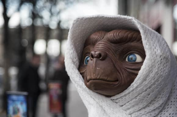 "The world's most famous extraterrestrial: ""E.T."""