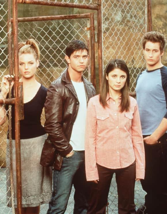 """""""Roswell""""-Darsteller: Katherine Heigl, Jason Behr, Shiri Appleby und Brendan Fehr"""