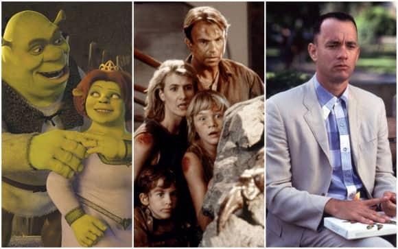 """""""Shrek"""", """"Jurassic Park"""" """"Forrest Gump"""""""