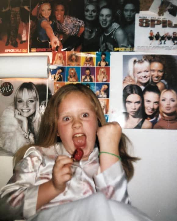 Adele als Kind jung