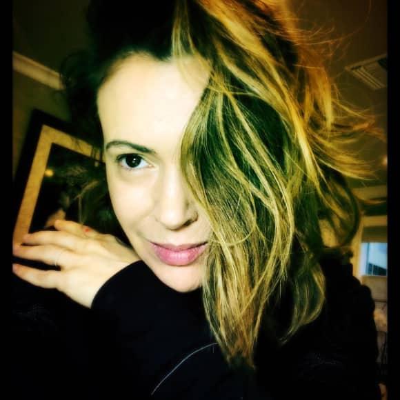 Alyssa Milano ungeschminkt