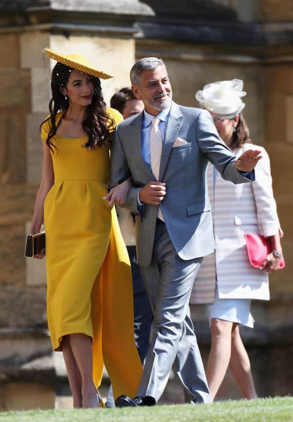 Amal und George Clooney auf der Hochzeit von Harry und Meghan