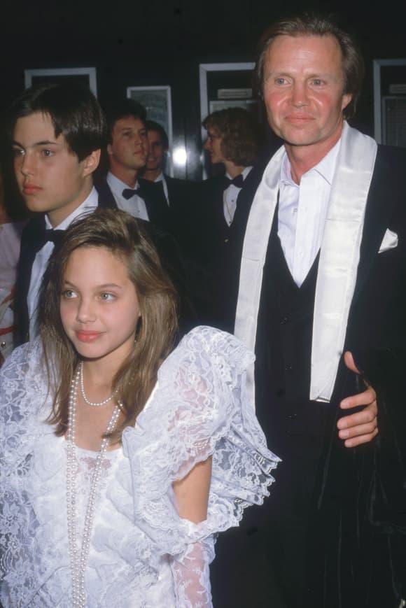 Angelina Jolie und Jon Voight 1986