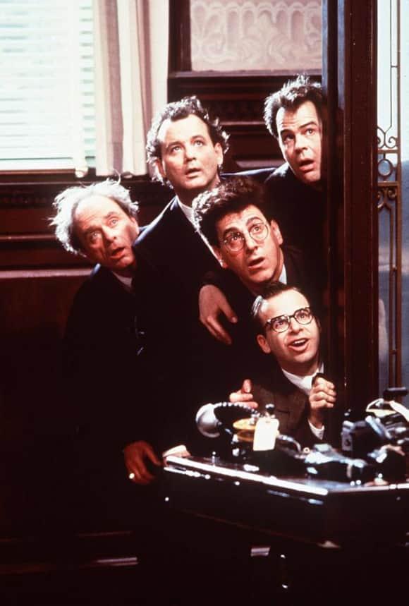 """Bill Murray, Rick Moranis, Harold Ramis and Dan Aykroyd in """"Ghostbusters"""""""